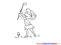 Golf Girl Clipart free Illustrations