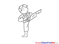 Karate Boy Clip Art download for free