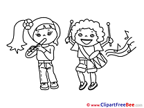 Musicians Kids download printable Illustrations