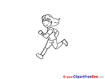 Run Girl download printable Illustrations