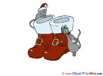 Boots Mouses printable Christmas Images