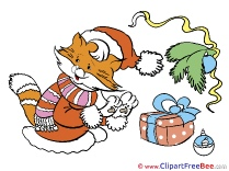 Cat Present Clip Art download Christmas