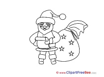 Coloring Bag Santa Cliparts Christmas for free