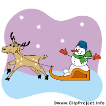 Deer and Carriage Christmas Clip Art