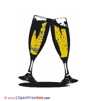 Glasses Champagne free Cliparts Christmas