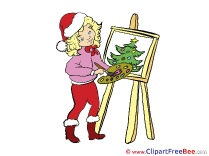 Painter Tree download Clipart Christmas Cliparts