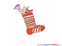 Red Sock Clipart Christmas free Images