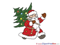 Santa Claus Tree printable Christmas Images