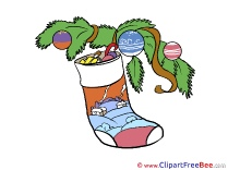 Sock printable Illustrations Christmas