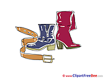 Belt Boots Clip Art download for free