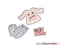 Blouse Pants Boots Pics printable Cliparts