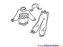 Clothes Pics printable Cliparts