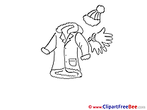 Coat Gloves free Cliparts for download