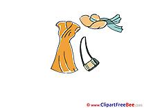 Dress Handbag Hat download Clip Art for free