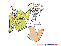 Fashion Clothes Sweater T-shirt free Illustration download
