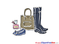 Handbag Boots Shoes Cliparts printable for free