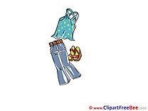 Jeans Singlet Shoes download printable Illustrations