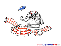 Skirt Scarf Blouse free printable Cliparts and Images