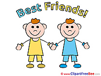 Boys Children Best Friends Illustrations for free