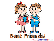 Children Boy Girl Best Friends free Images download