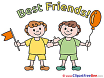Children Boys Best Friends Clip Art for free