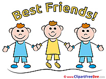 Children Boys printable Best Friends Images