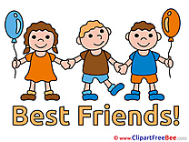 Girl Boys Children free Cliparts Best Friends