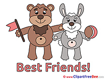 Rabbit Bear download Best Friends Illustrations