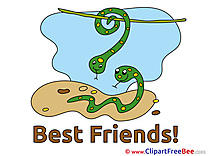 Snakes Best Friends download Illustration