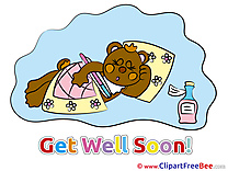 Bear Medicine Clipart Get Well Soon Illustrations