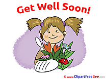 Bouquet Girl Pics Get Well Soon free Cliparts