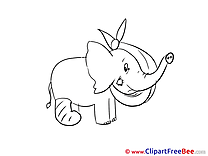 Elephant free Cliparts Get Well Soon