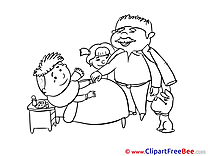 Family Dad Dog Boy Clipart Get Well Soon free Images