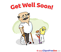 Father Flowers Daughter Get Well Soon Illustrations for free