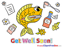 Fish Clipart Get Well Soon Illustrations