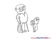 Grandfather Granddaughter Clipart Get Well Soon free Images