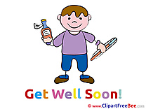 Kid Boy Get Well Soon Clip Art for free