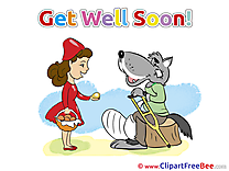 Little Red Riding Hood Wolf Cliparts Get Well Soon for free