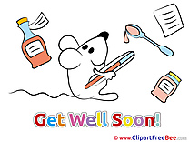 Mouse Pics Get Well Soon free Cliparts