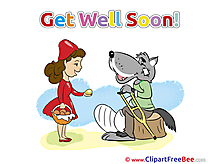 Pies Wolf Red Riding Hood Get Well Soon download Illustration