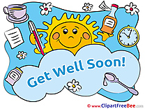 Sun Medicine Pills Pics Get Well Soon  free Image
