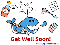 Whale Medicine free Cliparts Get Well Soon