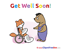 Wheelchair Cat Pics Get Well Soon free Cliparts