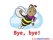 Bee Pics Goodbye Illustration