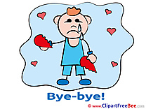 Boy Hearts Broken Heart Goodbye download Illustration