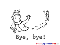 Children Boys Clip Art download Goodbye
