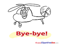 Helicopter Man free Illustration Goodbye