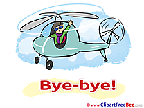 Helicopter Pilot Man free Cliparts Goodbye