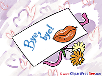 Letter Flowers Clipart Goodbye Illustrations