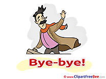 Man Pics Goodbye Illustration